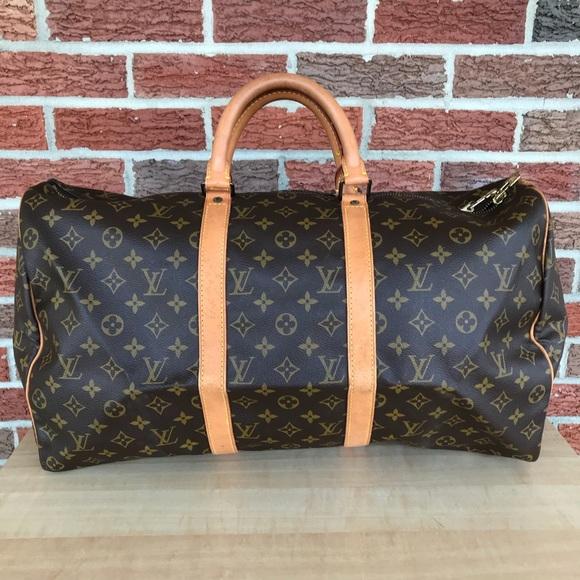 dc1fcfddbe Louis Vuitton Handbags - Louis Vuitton monogram Keepall 50 duffle travel